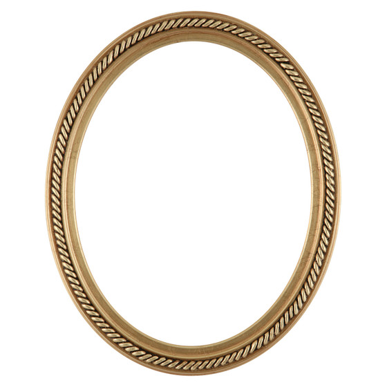 Oval Frame in Gold Leaf Finish| Braided Rope Decals on Vintage ...