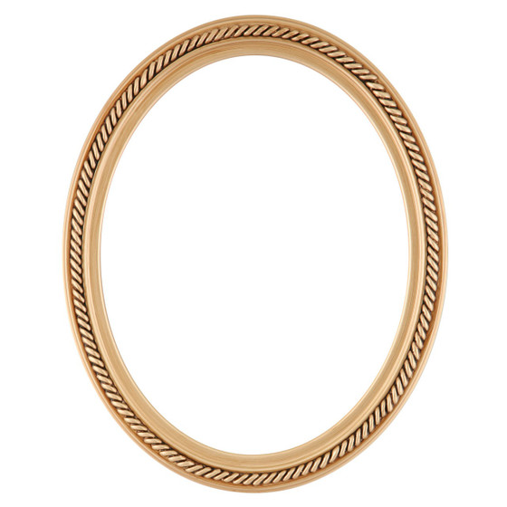 Oval Frame in Gold Paint Finish| Braided Rope Decals on Vintage ...
