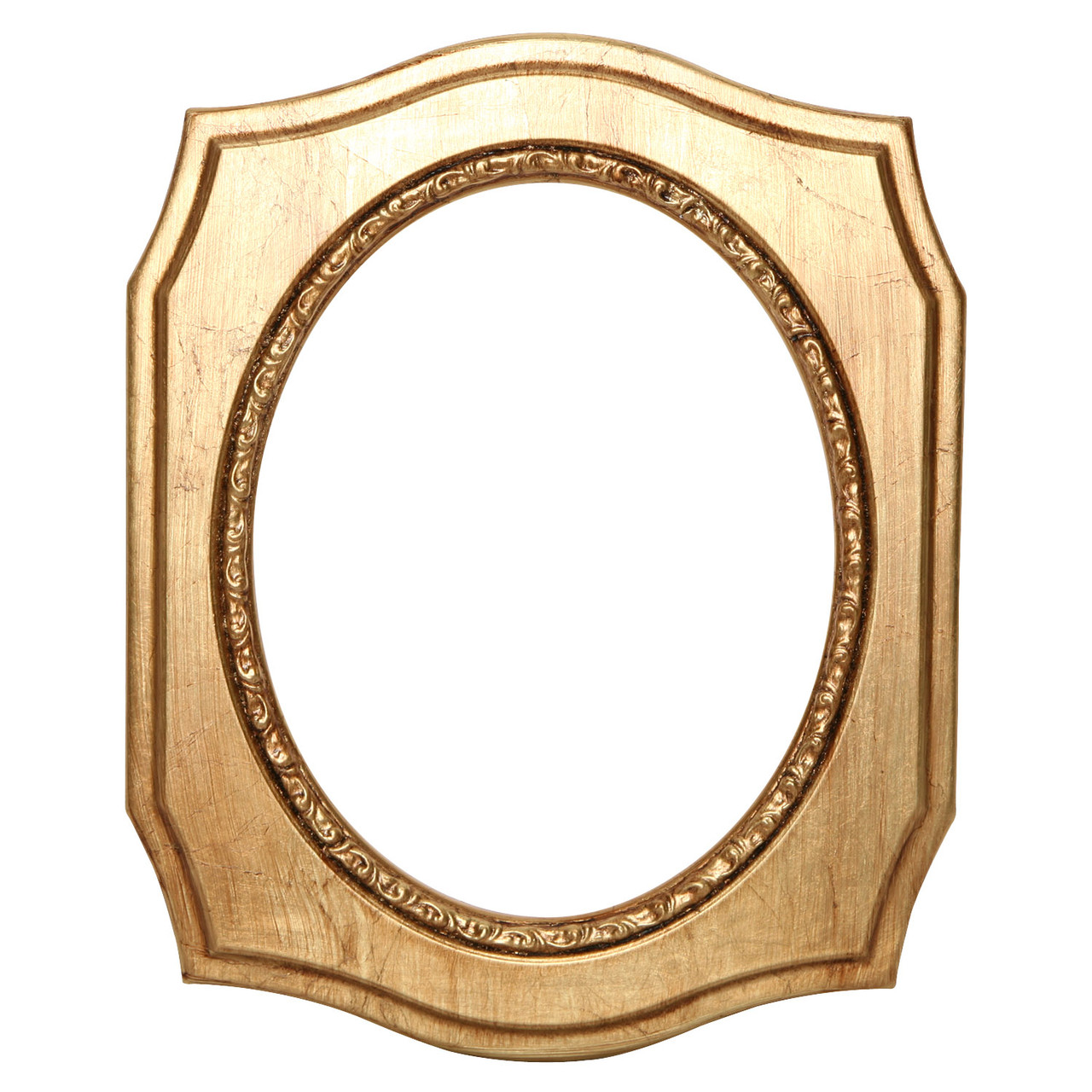 Oval Frame In Gold Leaf Finish Antique Stripping On Victorian