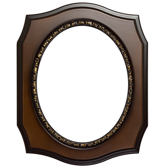 San Francisco Oval Frame # 609 Arc Sample - Walnut