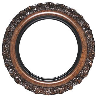 Venice Round Frame # 454 - Vintage Walnut