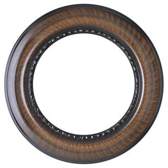 Chicago Round Frame # 456 - Vintage Walnut