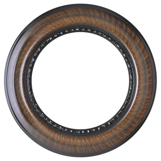 Chicago Round Frame # 456 - Vintage Walnut