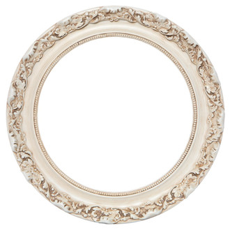 Rome Round Frame # 602 - Antique White