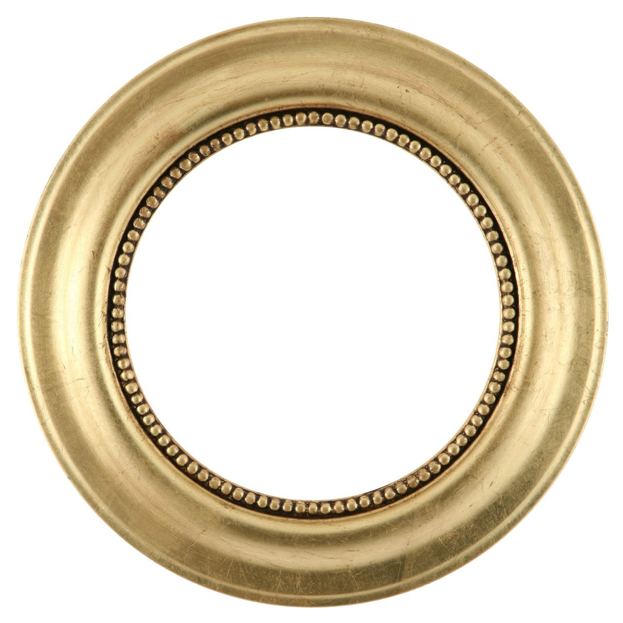 Round Frame In Gold Leaf Finish Gold Leaf Wooden Picture
