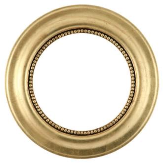 Heritage Round Frame # 458 - Gold Leaf