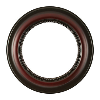 Heritage Round Frame # 458 - Rosewood