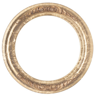 Florence Round Frame # 461 - Champagne Gold