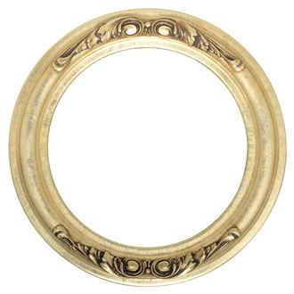 Florence Round Frame # 461 - Gold Leaf