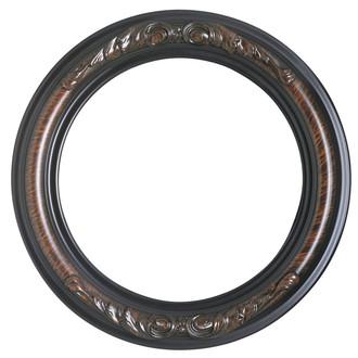 Florence Round Frame # 461 - Vintage Walnut