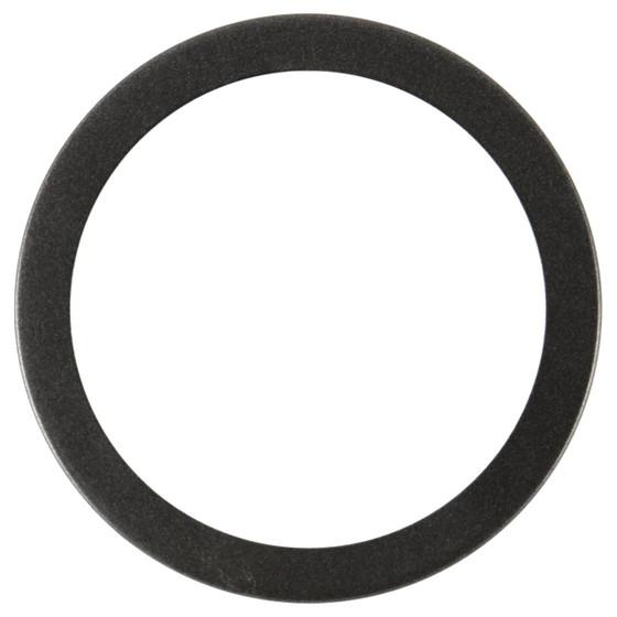 Vienna Round Frame # 481 - Black Silver