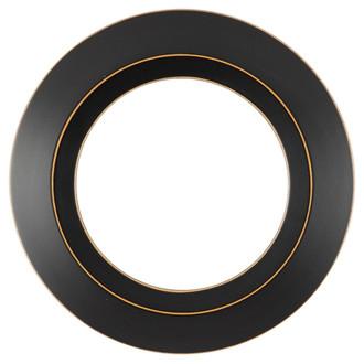 Veneto Round Frame # 485 - Rubbed Black