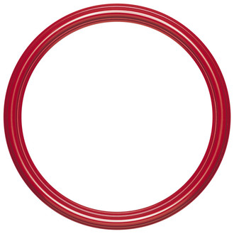 Saratoga Round Frame # 550 - Holiday Red