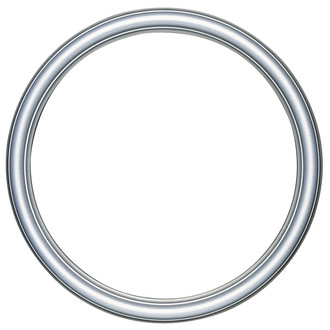 Saratoga Round Frame # 550 - Silver Shade