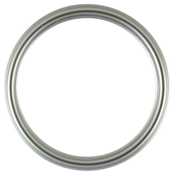 Round Frame in Silver Spray Finish| Simple Silver Paint Wooden ...