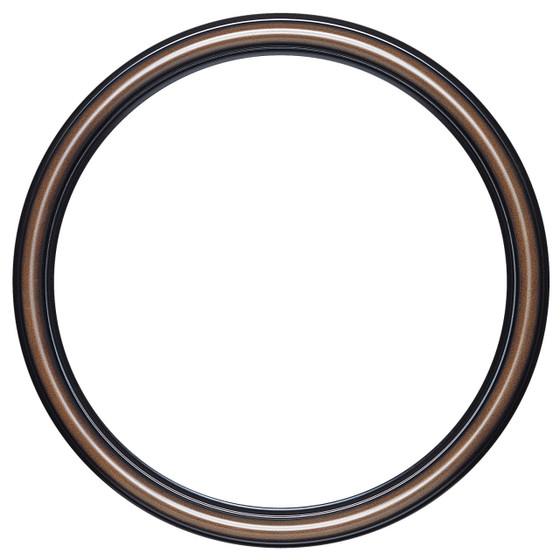 Saratoga Round Frame # 550 - Walnut