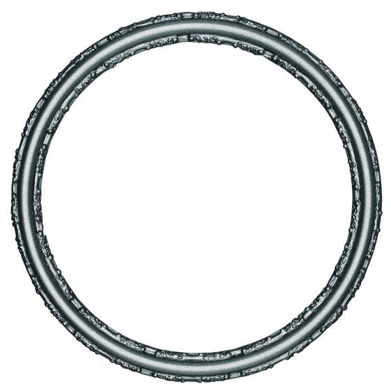 Virginia Round Frame # 553 - Black Silver