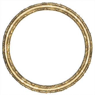 Virginia Round Frame # 553 - Champagne Gold