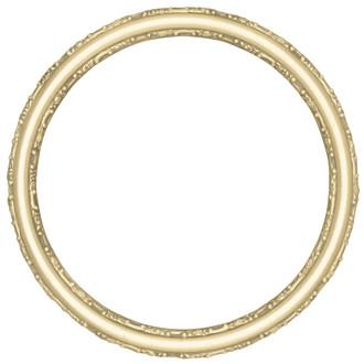 Virginia Round Frame # 553 - Gold Leaf