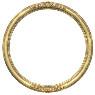 Contessa Round Frame # 554 - Champagne Gold