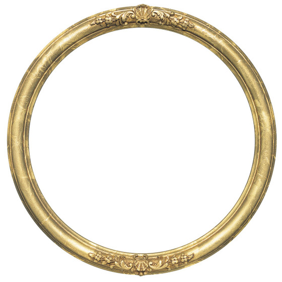 Round Frame in Champange Gold Finish| Gold Leaf Picture Frames with ...