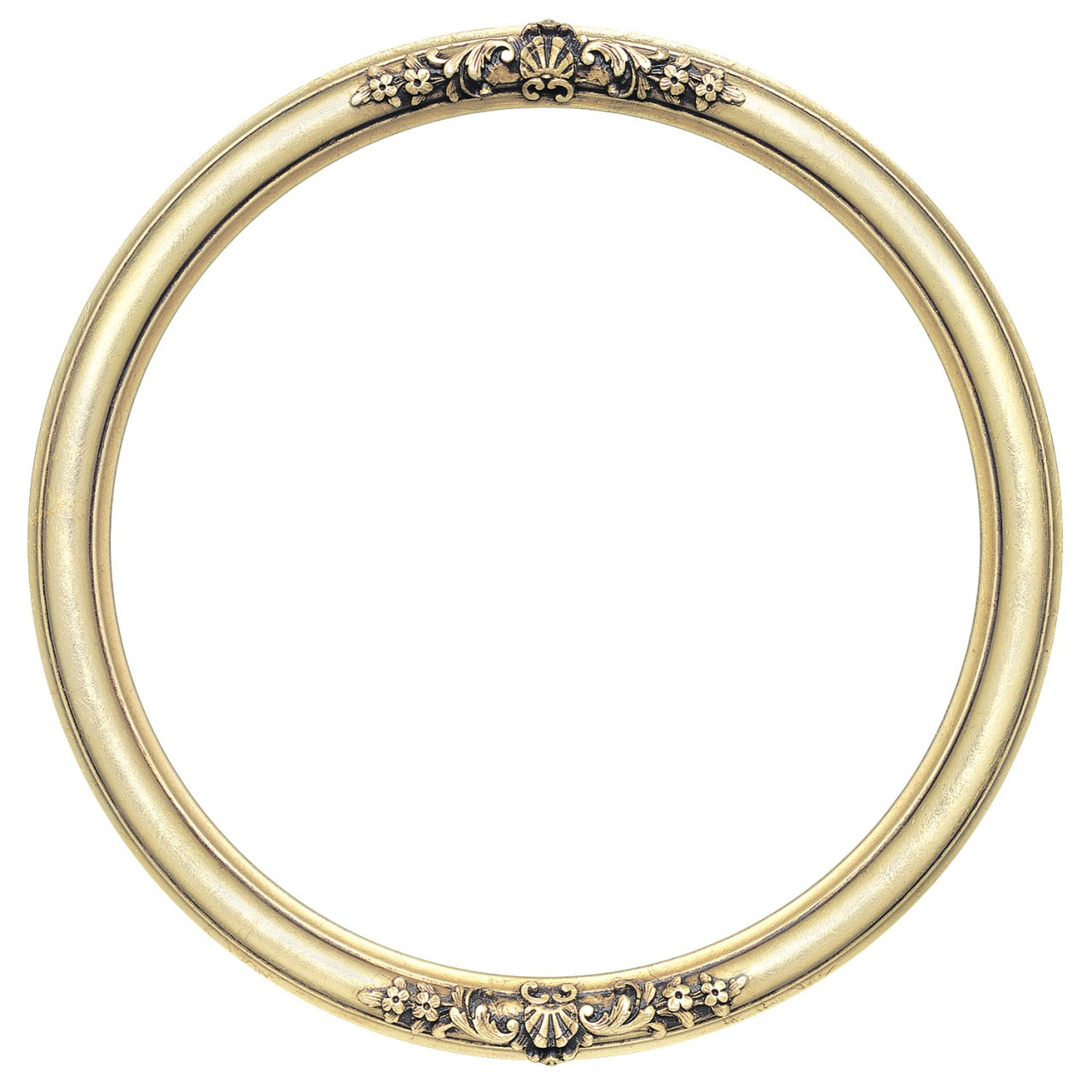 Round Frame In Gold Leaf Finish Antique Gold Picture
