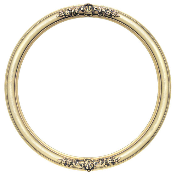Round Frame in Gold Leaf Finish| Antique Gold Picture Frames with ...