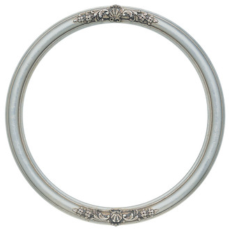 Contessa Round Frame # 554 - Silver Leaf with Brown Antique