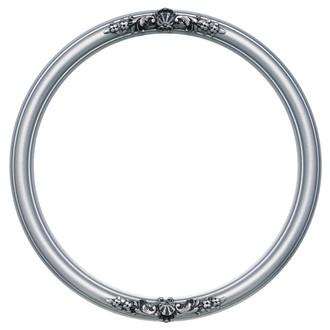 Contessa Round Frame # 554 - Silver Spray