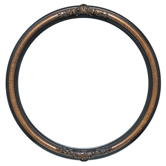 Contessa Round Frame # 554 - Vintage Walnut
