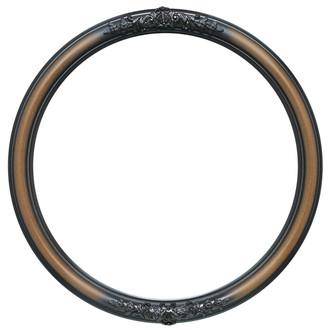 Contessa Round Frame # 554 - Walnut