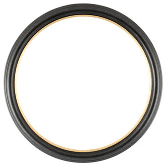 Hamilton Round Frame # 551 - Black Silver with Gold Lip