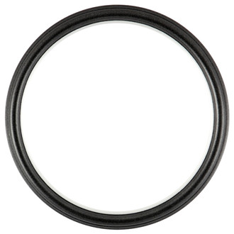 Hamilton Round Frame # 551 - Black Silver with Silver Lip