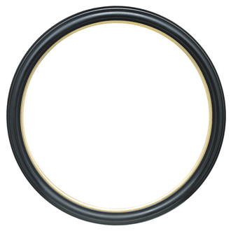 Hamilton Round Frame # 551 - Gloss Black with Gold Lip