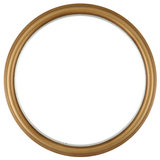 round frame in gold spray finish simple gold paint wooden. Black Bedroom Furniture Sets. Home Design Ideas