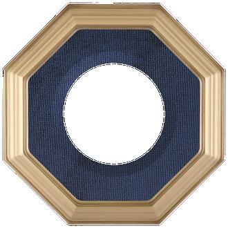 Collector Plate Frame #351 - Desert Gold (Blue Velvet)