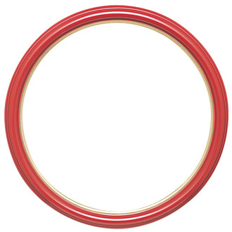 Hamilton Round Frame # 551 - Holiday Red with Gold Lip