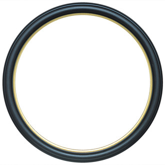 Hamilton Round Frame # 551 - Matte Black with Gold Lip