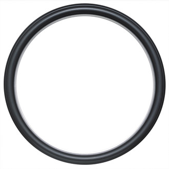 Hamilton Round Frame # 551 - Matte Black with Silver Lip