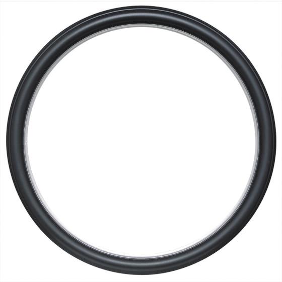 Hamilton Round Frame # 551 - Matte Black with Silver Lip