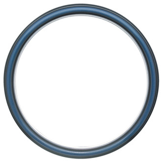 Hamilton Round Frame # 551 - Royal Blue with Silver Lip
