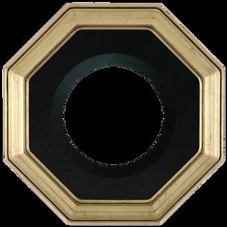 Collector Plate Frame #351 - Gold Leaf (Black Velvet)