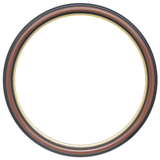Hamilton Round Frame # 551 - Rosewood with Gold Lip