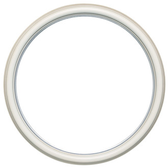 Hamilton Round Frame # 551 - Taupe with Silver Lip