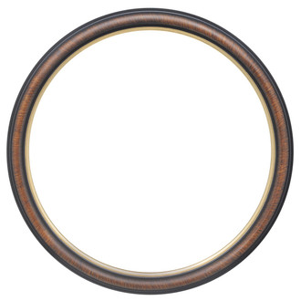 Hamilton Round Frame # 551 - Vintage Walnut with Gold Lip