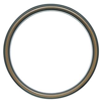 Hamilton Round Frame # 551 - Walnut with Silver Lip
