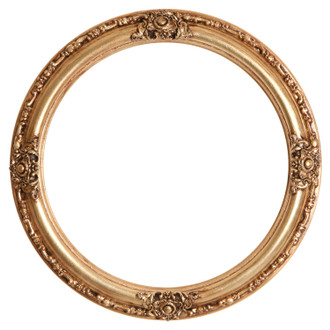 Jefferson Round Frame # 601 - Gold Leaf