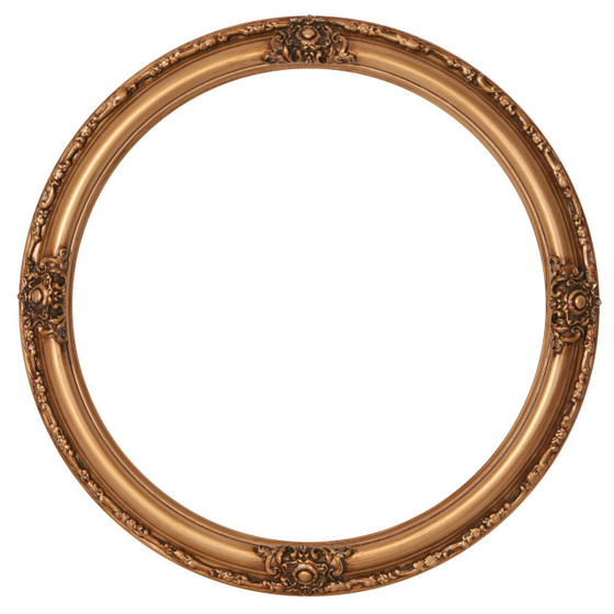 Round Frame in Gold Paint Finish| Gold Picture Frames with Antique ...
