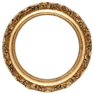 Rome Round Frame # 602 - Gold Leaf