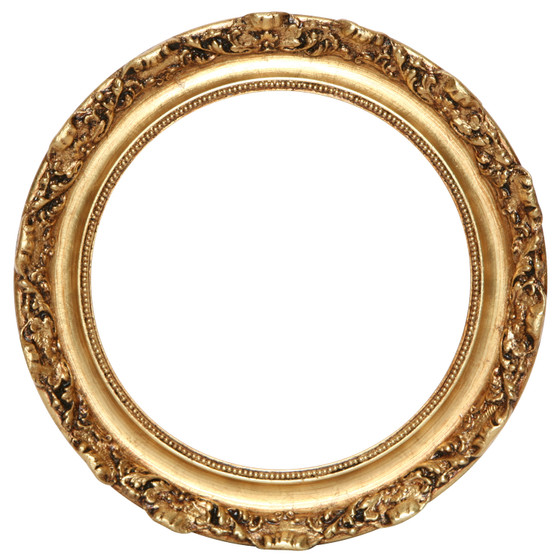 Round Frame in Gold Leaf Finish| Gold Leaf Picture Frames with ...